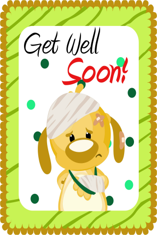 Get Well Greetings Cards