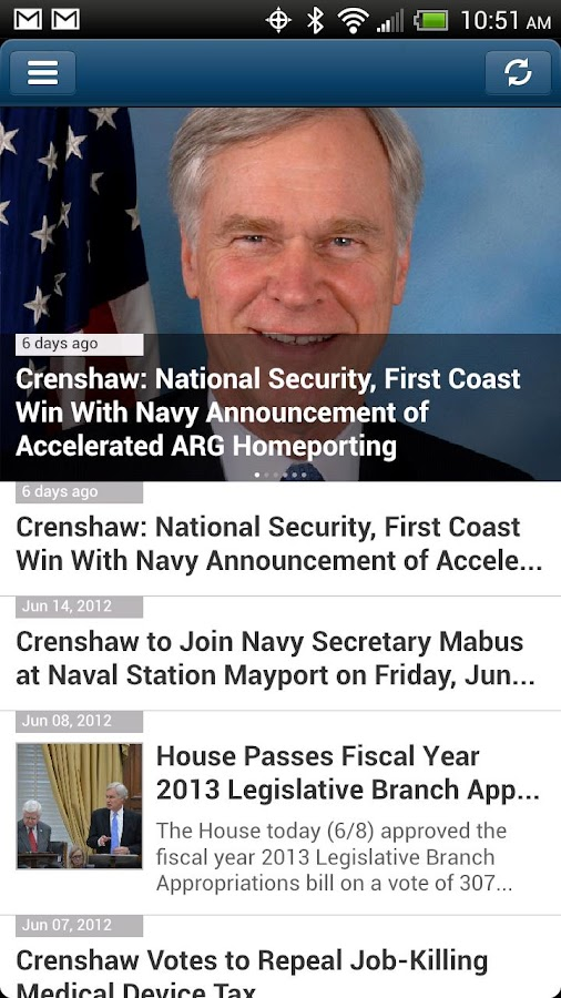 Congressman Ander Crenshaw - screenshot