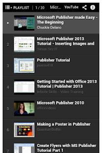 玩免費程式庫與試用程式APP|下載Office Publisher Tutorial app不用錢|硬是要APP