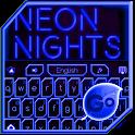 GO Keyboard Blue Neon Theme icon