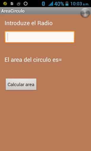 Area del circulo