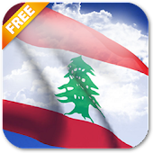 3D Lebanon Flag Live Wallpaper