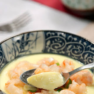 【Shrimp with Steamed Egg】.