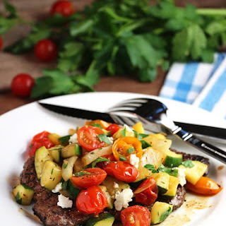 Minute Steak with Ratatouille.