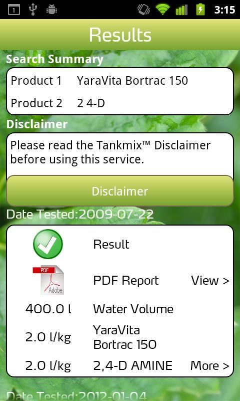 Yara TankmixIT - screenshot