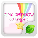 GO Keyboard Pink Rainbow Theme