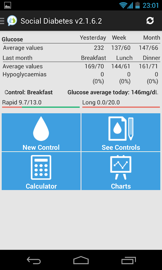 Social Diabetes - screenshot