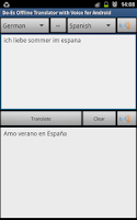 Screenshot of De-Es Offline Translator