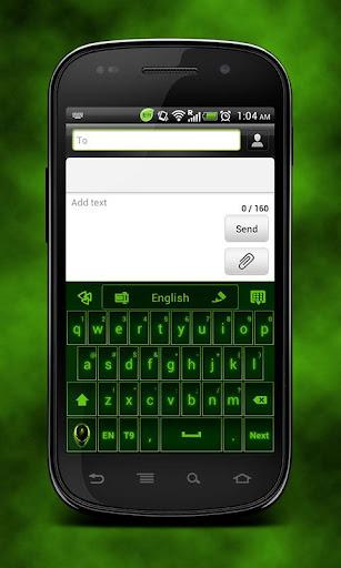GO Keyboard Alien Theme