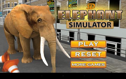 3D 야생 코끼리 시뮬레이터