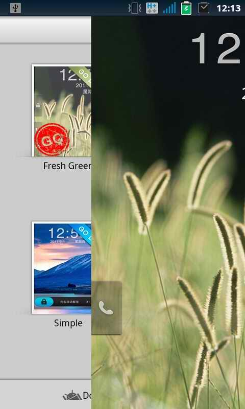 GO Locker Green Theme - screenshot