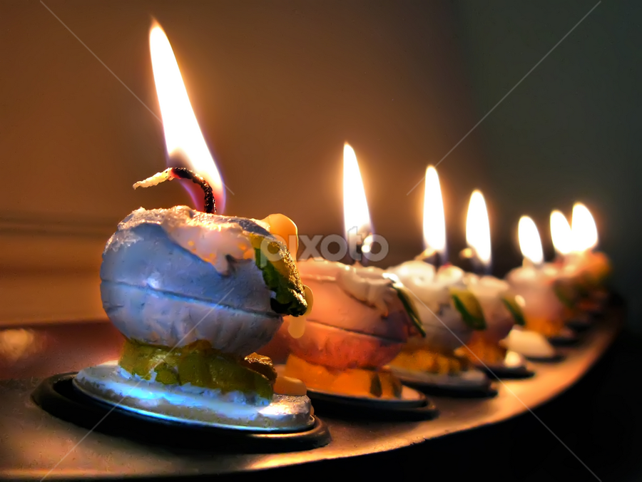 Seven Lights by Daliana Pacuraru - Artistic Objects Other Objects ( ignited, easter, candles, wax, light, candle,  )