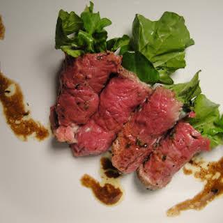 Beef Tenderloin with Horseradish and Watercress Rolls.