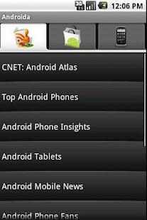 Androida - screenshot thumbnail