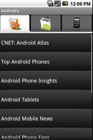 Androida - screenshot