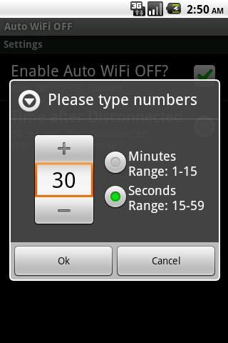 Auto WiFi OFF- screenshot