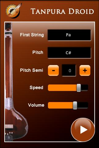 Tanpura Droid - screenshot