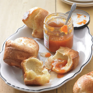 Classic Popovers with Fruit Jam.