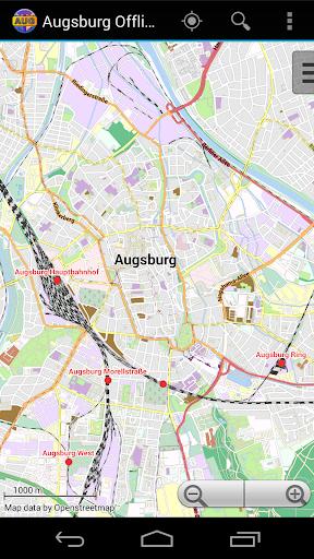 Augsburg Offline City Map