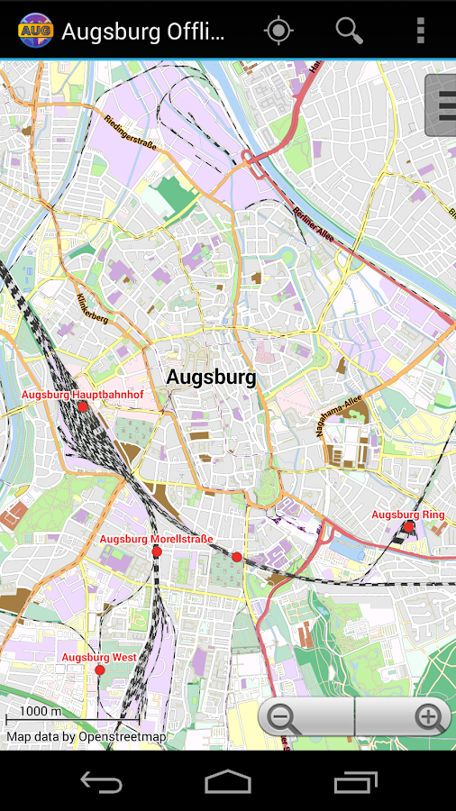 Augsburg Offline City Map- screenshot