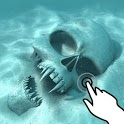 Magic touch: Skull underwater icon