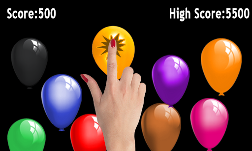 Balloon poping game
