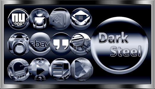 Dark Steel Icon Pack v1.4