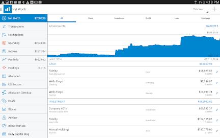 Personal Capital Finance Screenshot 9