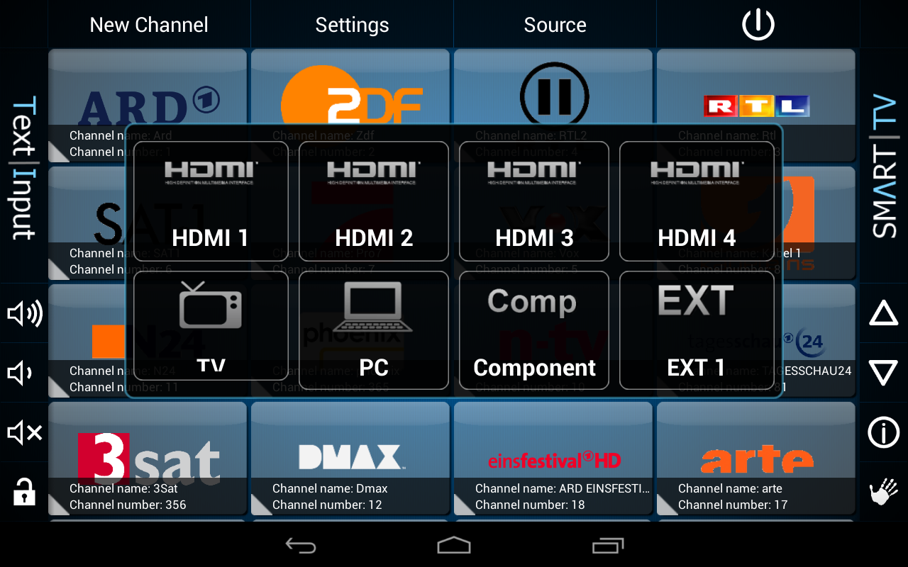 Smart TV Remote Tab - screenshot
