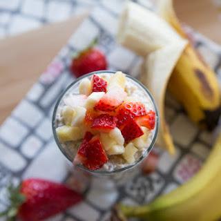 Strawberry & Banana Overnight Oats.