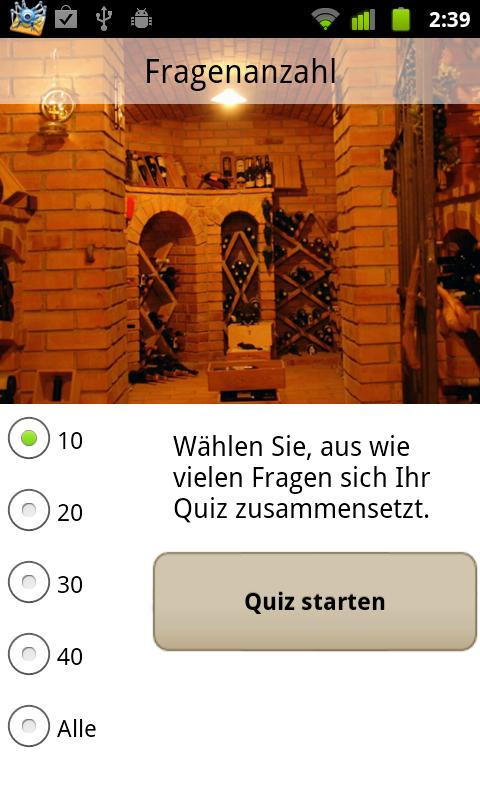 Weinquiz Allgemein - screenshot