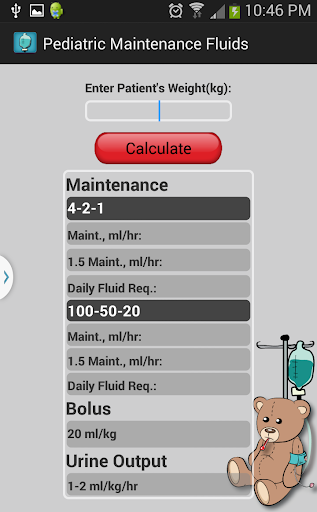 Pediatric Maintenance Fluids