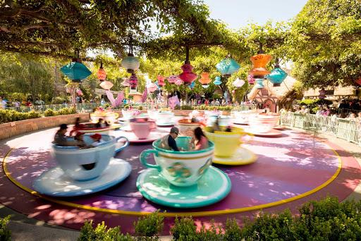 teacup-disneyland-los-angeles - Disneyland's Teacup Ride in Anaheim, California.