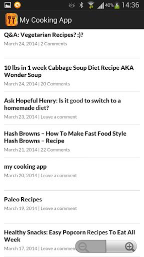 My Cooking App