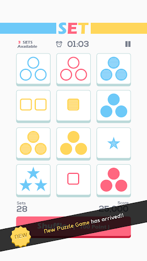 Set of Threes : New Brain Game