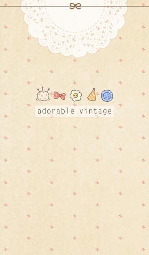 adorable vintage 카카오톡 테마