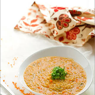 Cream Of Red Lentil Soup.