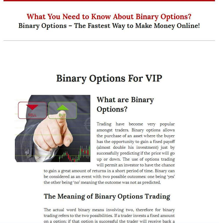 Binary options trade calculator