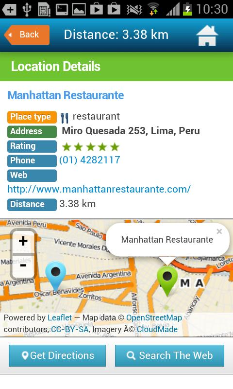 Lima Tourist Guide Map Hotels- screenshot