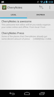 CherryNotes - With Dropbox