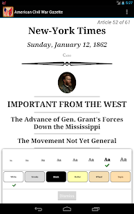 1862 Jan Am Civil War Gazette - screenshot thumbnail