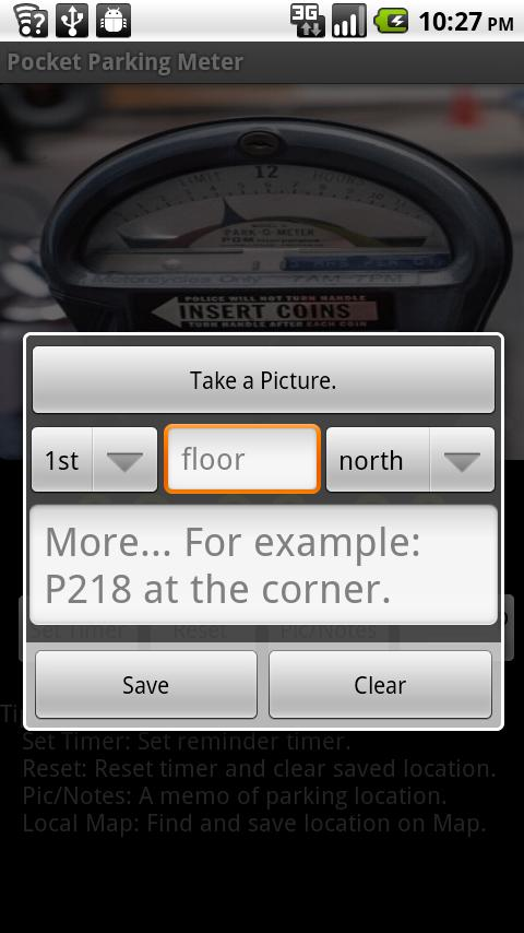 Pocket Parking Meter free- screenshot