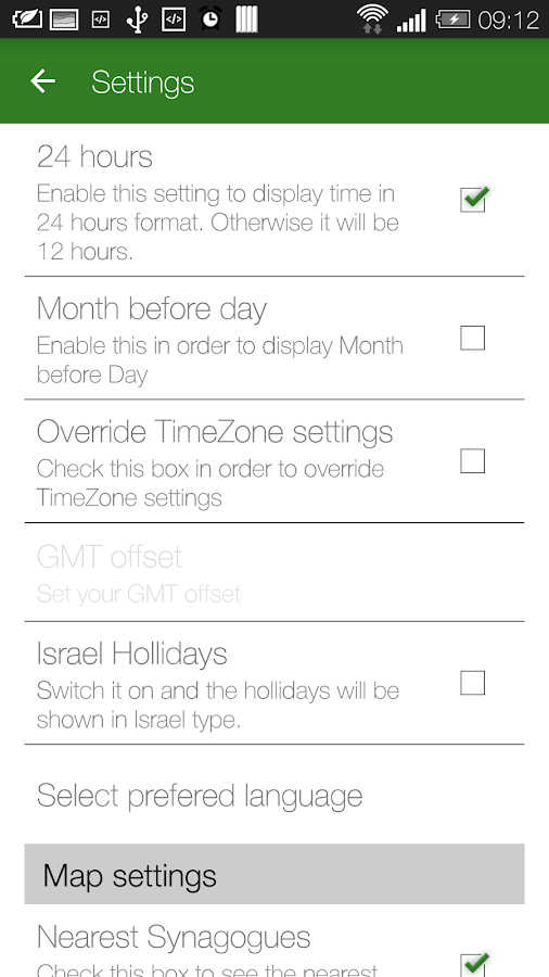 Jewish calendar - Simple Luach- screenshot