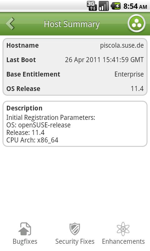 SUSE Manager Mobile (beta) - screenshot