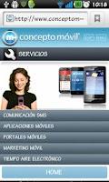 Screenshot of Concepto Móvil