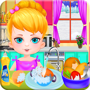Wash dishes girls games for PC and MAC