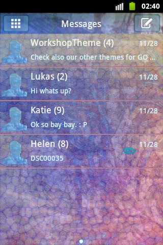 GO SMS Theme Stained NEON Buy