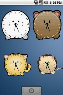 Cute Seal Clock Widget 2x2 - screenshot thumbnail