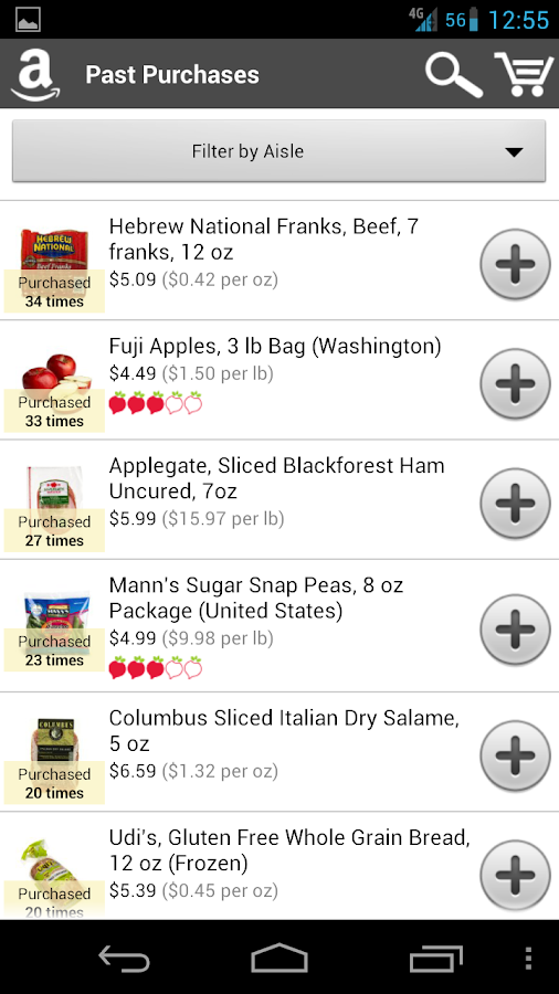 AmazonFresh - screenshot