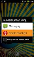 Screenshot of Simple Flashlight